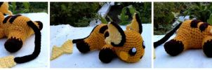Colonel the Crochet Raichu by ArtisansShadow