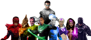 The Entire Lantern Corps! by Camo-Flauge