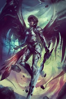 VESUDAH: Archangel of the Infinite - Full Art by Eddy-Shinjuku