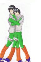 Commission:Gai and Lee hugging by Soji-chan
