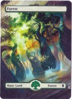 Magic Card Alteration: Zendikar Forest by Ondal-the-Fool