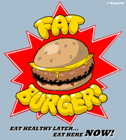 Fat Burger Logo by Kryptid