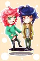 Damien and Sora Chibi by Tammi-sempai