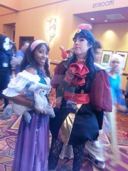 La Esmeralda and Genderbend Jafar by CryingGypsy
