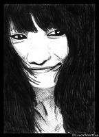 Her Timid Smile -drawing- by Livor-Mortiis