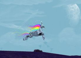 WIP: Robot Unicorn Attack by bumblefly