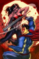 Slugger (PROSS COMICS) vs. Superman by jey2dworld