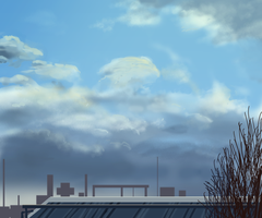 sky speedpaint by yoggurt