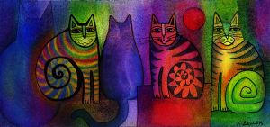 cat party by karincharlotte