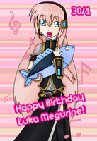 Happy Belated Birthday Luka Megurine QAQ by Kurai-Kogami24