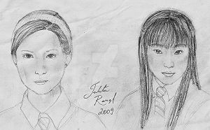 Ginny Weasley and Cho Chang by talita-rj