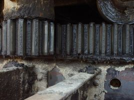 Oily Gears in Mining Equipment by darenw