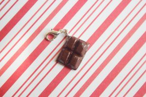 polymer clay mini chocolate bar by l337Jacqui