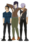 Triplets  as Adults (full body) by Maune1998