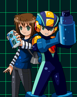 Megaman and I by Hero-of-Awesome