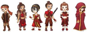 AtLA: Fire Nation Disguises by Xiaomei23