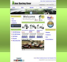 Xbox Racing Gear Web Design by Atzero