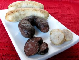 Rice and Blood Sausage by Kitteh-Pawz
