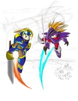 Rocket-Knight Rivals by negathus
