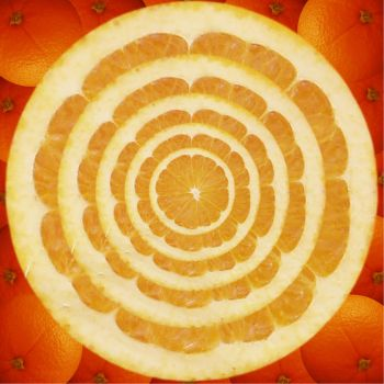 kaliedoscope of oranges by 3cecil