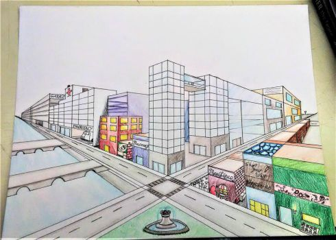 Perspective Assignment-Cityscape by MaitreVoleur