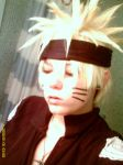 Close up on the naruto wig. by karma4489