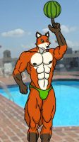 Ted the Swimmer by WolfoxOkamichan
