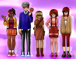 Blind Trust characters by Punkichi