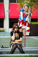 Supergirl and Batgirl: Teasing is Fun! by ocwajbaum