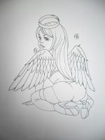 sexy angel tattoo design by tattoosuzette