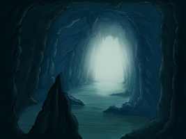 Ice cave by lomartistic