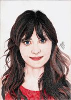Zooey Deschanel by Thiago-NightCrawler