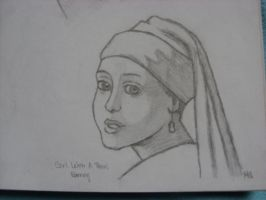 Girl With A Pearl Earring by michelleaudette