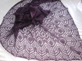 Purple shawl - Windsbraut Padua by NitkaAG