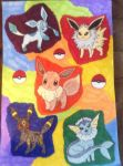 Eeveelutions by AmatoryOstrich