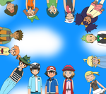 Ash's Traveling Companions by PokemonXYLover1998