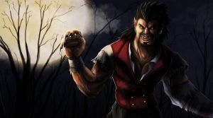 Wolfman Draven Splash Art by Dargonite
