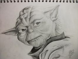 Master Yoda sketch by TheFantasyArtist