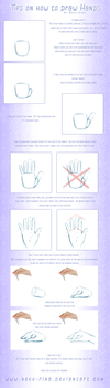 Tips on how to draw hands by Neko-Rina