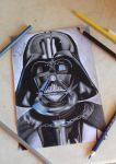 Darth Vader Drawing by Tenemur