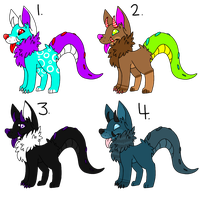 Monster Dog Adoptable Auction (CLOSED) by DetritusDroid