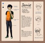 Jamie ref sheet by apples-ishness