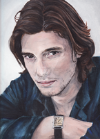 Ben Barnes in colour acrylic by xChasingtailsx