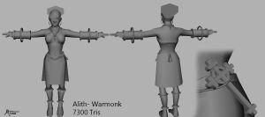 Alith the Warmonk -Mesh by Ikimono1