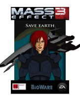Mass effect standee concept by CaptainApoc