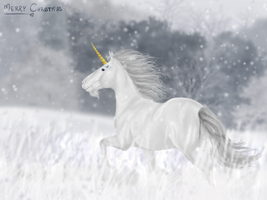 Merry Xmas Unicorn-Skydancer. by LastUtopia