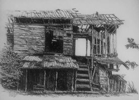 Abandoned. pen and ink by Dante Luzon by DanteLuzon
