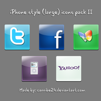 iPhone style large icons II by Carribe24