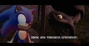 Sonic and Toothless Crossover .:Tribute Copy:. by Pichulover20