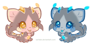 [CLOSED!] Bubble Kittens #3 and #4 by Sarilain